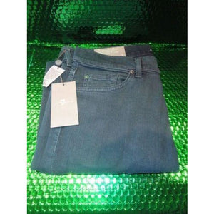 7 for all man kind Green slimmy slim straight leg 32 jeans