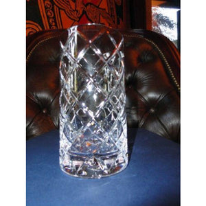 "Faberge Crystal Glass  5"" tall with 2 7/8"" opening new without box"