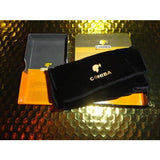 COHIBA  Stainless Steel Dual Blades Cutter & Lighter in boxes