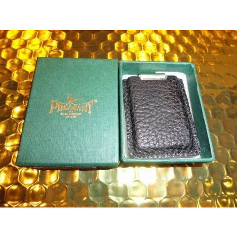 pheasant by R.D.Gomez made in Spain Black  Leather  Cigar Case  & cigar cutter