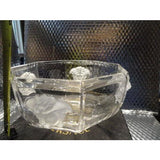 """VERSACE""BY ROSENTHAL, GERMANY  ""MEDUSA LUMIERE"" CRYSTAL BOWL, 7 INCH"