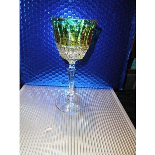 Faberge Xenia Yellow  Crystal Wine Glass without box