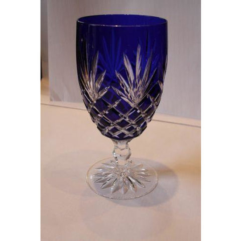 Faberge Crystal Odessa  Cobalt Blue  Water  or Ice Tea Beverage Glass