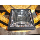 "Bvlgari Crystal Ashtray by Rosenthal measures 5.5"" x 5.5"" square opened box"