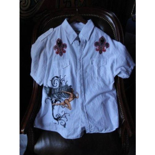 Retrofit mens casual white shirt adult Medium with tags