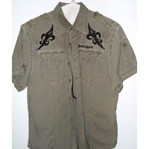 Rebel Spirit mens large casual dress shirt