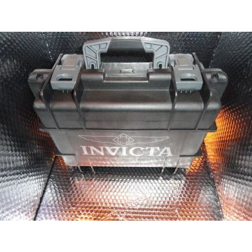 Invicta watch carrying case in solid black holds 8 watches