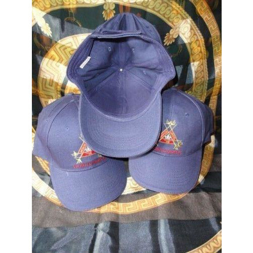 Montecristo Blue Embroided Baseball Cap with Velcro Adjustment Strap