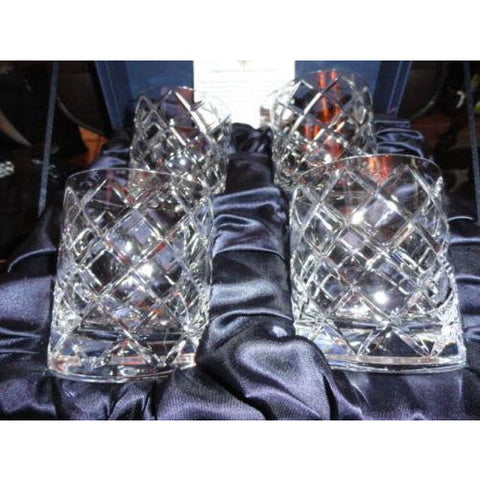Faberge Crystal Clear Cocktail Glasses.  New in Original Presentation Box
