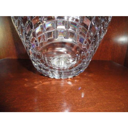 "Faberge Large Metropolitan Clear Crystal 10.75""  Bowl pre-owned"