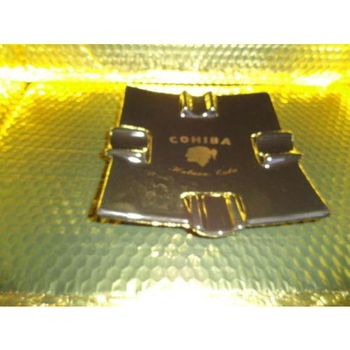 cohiba black ceramic square cigar ashtray new in the box Made in USA