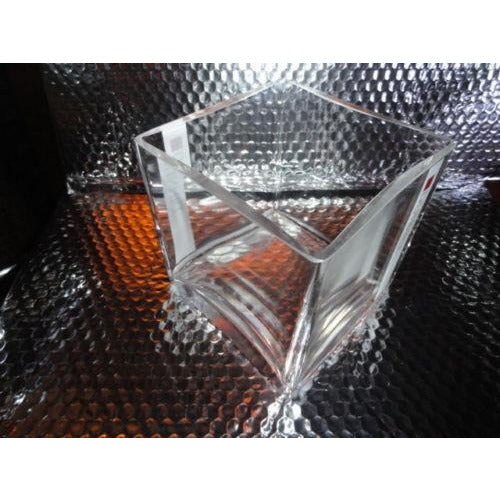 Dunhill Heavy Glass Square Desk Holder