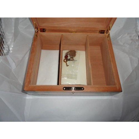 Elie Bleu Flor de Alba Orange  Sycamore  Humidor 75 Ct new in the original box