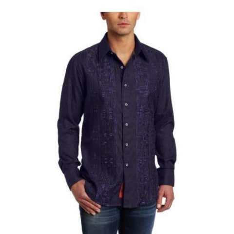 Robert Graham Men's Mate Purple Long Sleeve Shirt - Size Medium - New