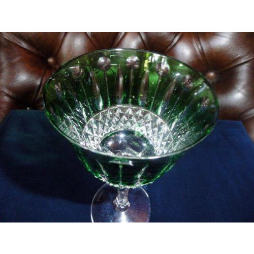 Faberge Crystal Xenia Emerald Green Wine Glass new without the original box