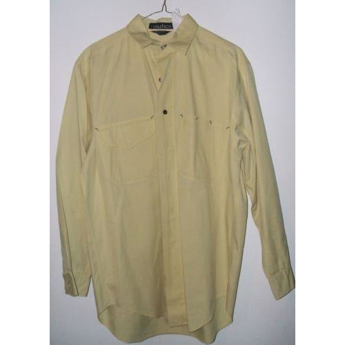 Nautica mens medium casual designer shirt