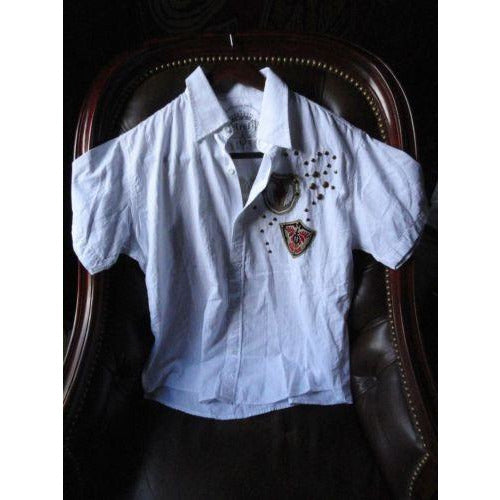 Retrofit mens casual shirt adult White with tags Medium size