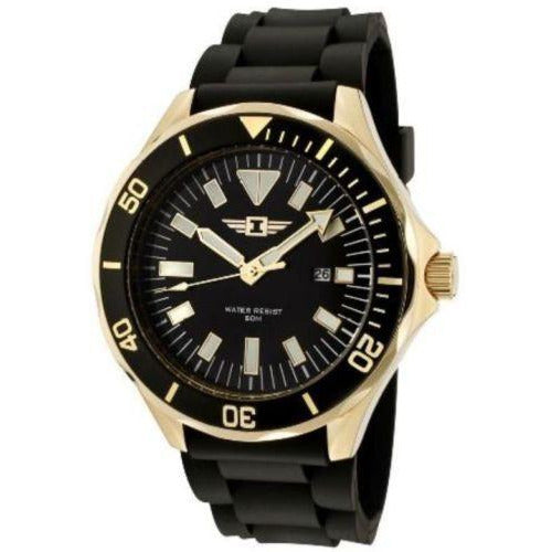 I by Invicta Men's Black Dial Black Rubber Watch