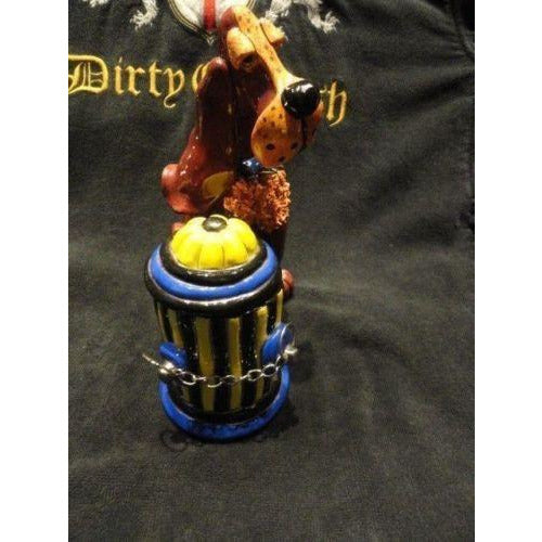 character collectible winchester holding fire hydrant votive  holder NIB