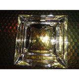 "Bvlgari Crystal Ashtray by Rosenthal measures 5.5"" x 5.5"" square"