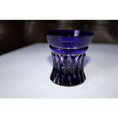 Faberge Na Zdorovya Vodka Crystal Cobalt Blue Edition Single Shot Glass