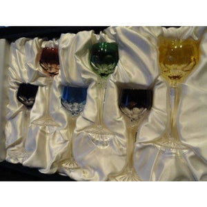 Faberge Lausanne Liqueur Glasses Set of 6 in the original box