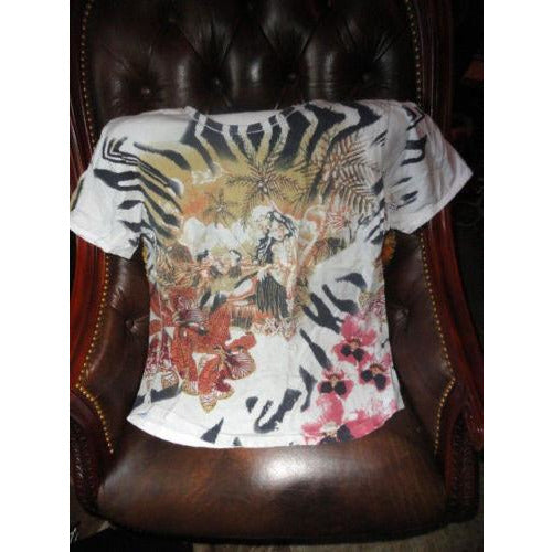 Just Cavalli Mens Designer T-Shirt pre-owned size 52