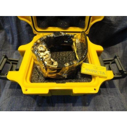 invicta model no. 80591 with yellow invicta watch box watertight case