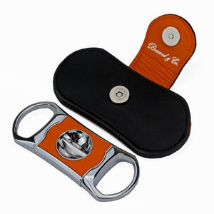 "Brizard and Co. The ""V"" Cutter - Orange and Black Leather"