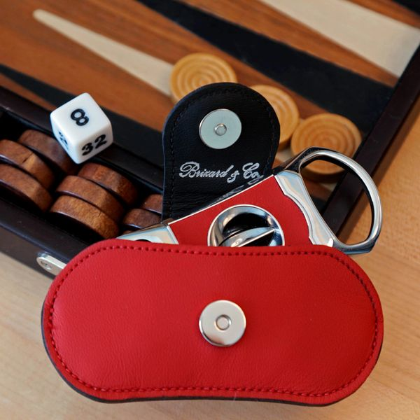 "Brizard and Co. The ""V"" Cutter - Red and Black Leather"