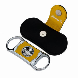 "Brizard and Co. The ""V"" Cutter - Yellow and Black Leather"