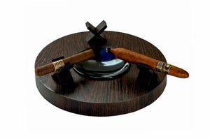 "Brizard and Co. The ""Deck"" Ashtray Round (Triple) - Wenge"
