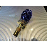 Faberge Emerald Blue Crystal Pine Cone Bottle Stopper in Orginal Box
