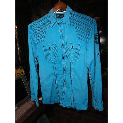 Roar signature mens medium shirt In Blur Preowned Good Condition