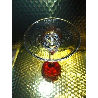 Faberge Odessa Cranberry Red Hock Crystal Wine Glass