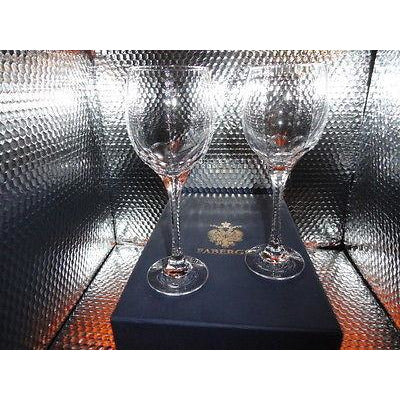 Faberge Bristol Crystal  Glasses in original Faberge box with card