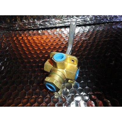 "FUEL LINE TANK SHUT OFF SELECTOR 4  WAY VALVE 1/4"" FEMALE BRASS by TELEDYNE USA"