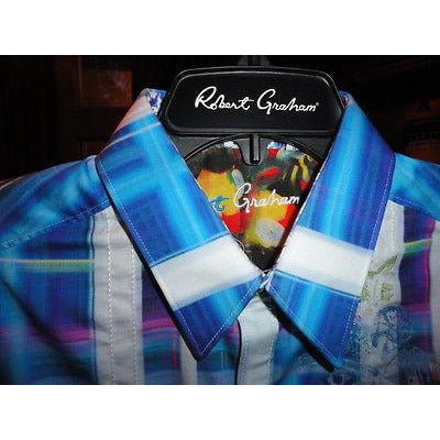 Robert graham seattle blue shirt Medium