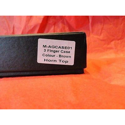 Andre Garcia 3 finger Brown with Flat Horn Top  cigar case new original box