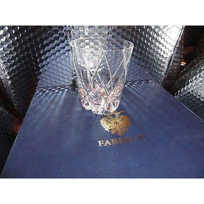 Faberge Atelier Crystal Old Fashion  Glasses set of 4 NIB