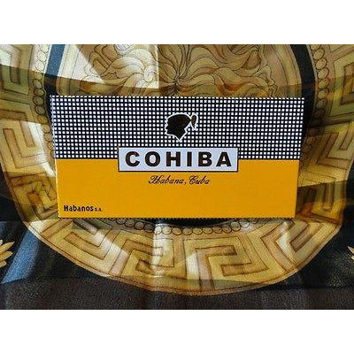 Cohiba Black & Gold Leather Cigar Case & Cohiba Humidor