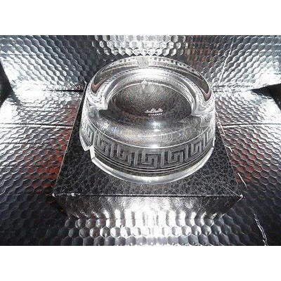 "Versace Rosenthal  Studio Line Crystal Ashtray measures 6.25"" diameter new"