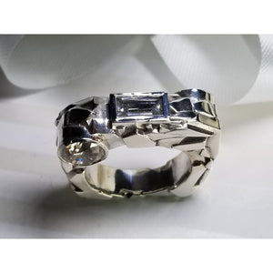 "Custom designed ""Rock"" Solid Silver Ring"