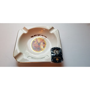 Punch Ceramic Ashtray & cutter