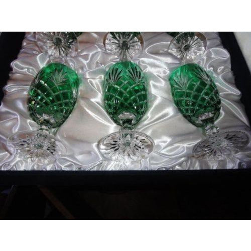 Faberge Emerald Green  Odessa Water or Ice Tea Beverage Glasses