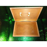 "Custom Exotic Dark Green Wood Humidor 50 count capacity 11"" L x 7.25"" W x 4.5"" H"