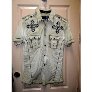Men's Roar Signature Short  Sleeve Button Up Shirt Size Medium