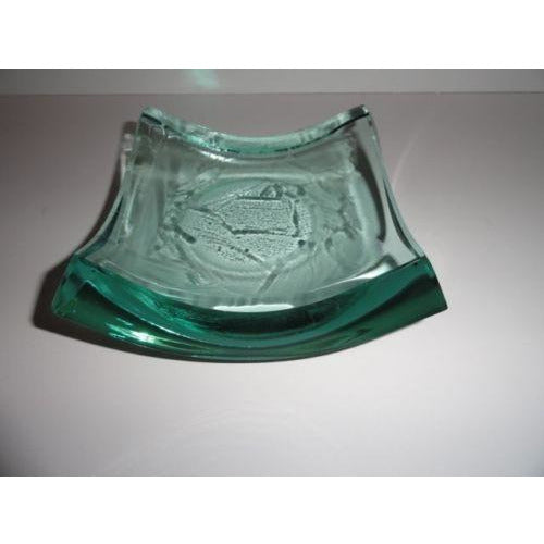 Stephen Schlanser Art Glass Bowl Brush Strokes Signed and Dated 1996