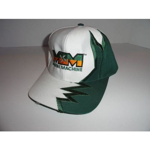 Marine Machine embroidered  Dark Green jagged edge baseball cap