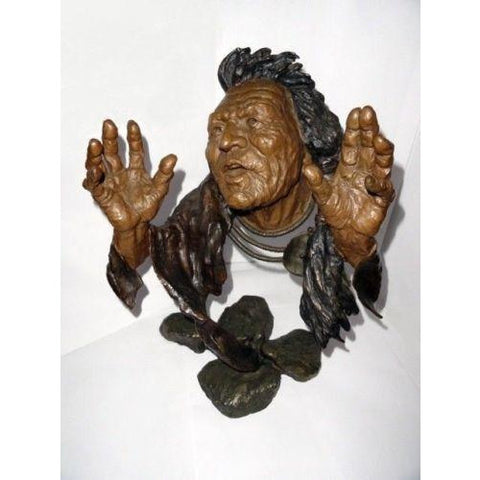 "Mark Hopkins Bronze Sculpture "" Legend Keeper"""